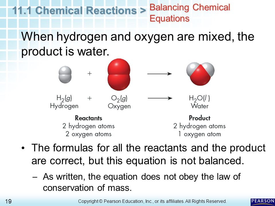 Chapter 11 Matter And Change 11 1 Describing Chemical Reactions