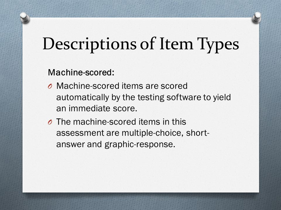Test Specifications Grade Five Science  - ppt download