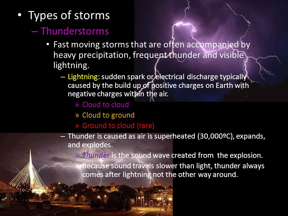 2 types of storms thunderstorms