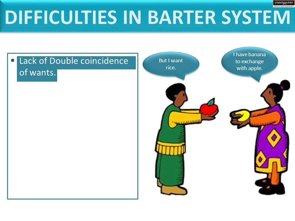 barter system and its difficulties