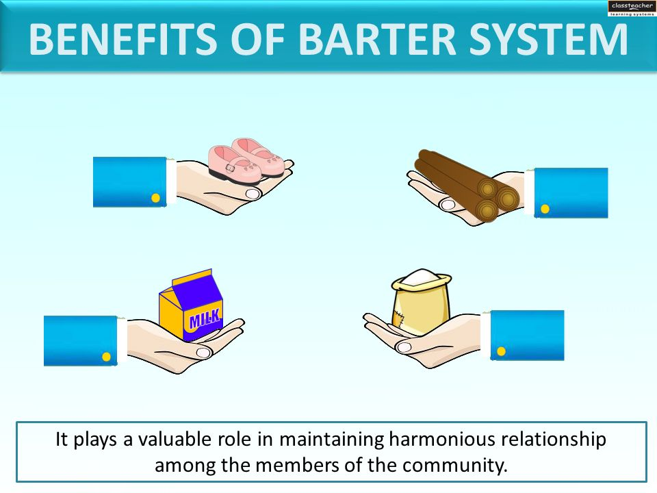 what are the advantages of barter system