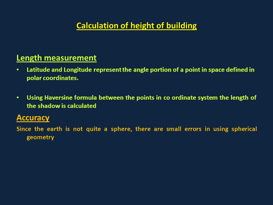 Height Estimation Of Manmade Objects Using High Resolution Single Look  Google Earth Imagery Wing Commander PK Sharma Joint Director (IMINT) Indian  Air