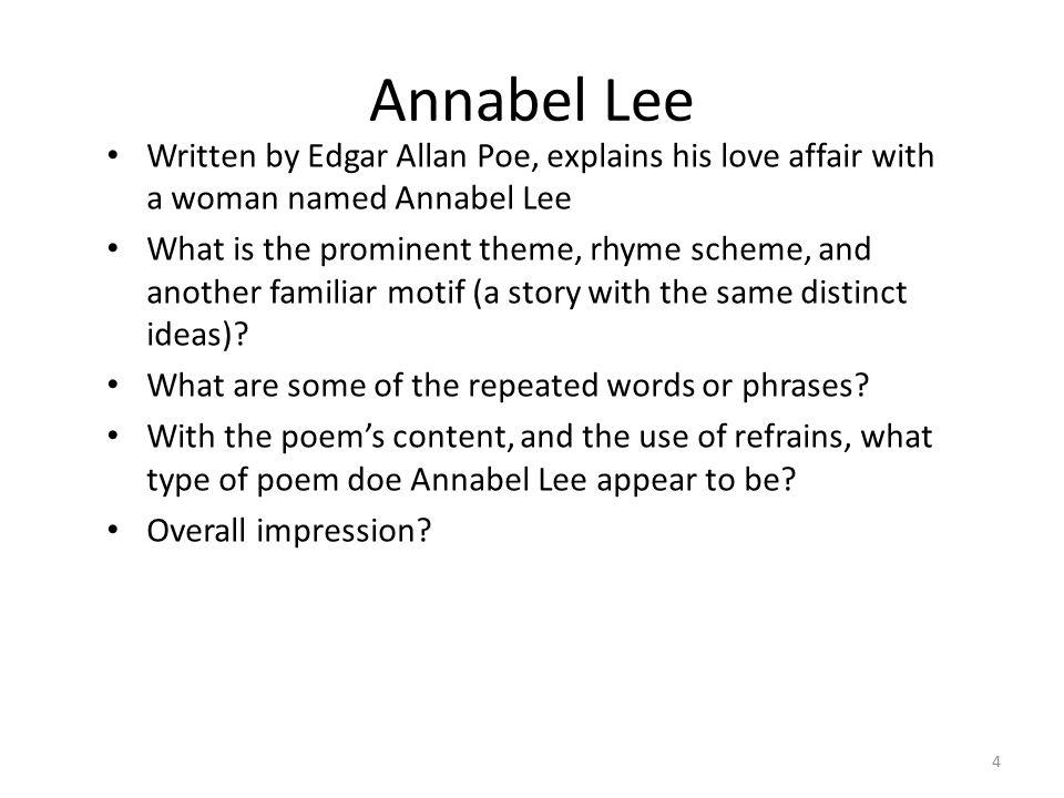 annabel lee rhyme scheme