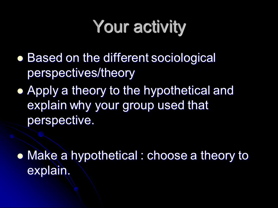 different sociological perspectives A short intro to the sociological theoretical perspectives: conflict, functionalist, and symbolic interactionist i think i'm doing an awesome job of concisely illustrating the theoretical.