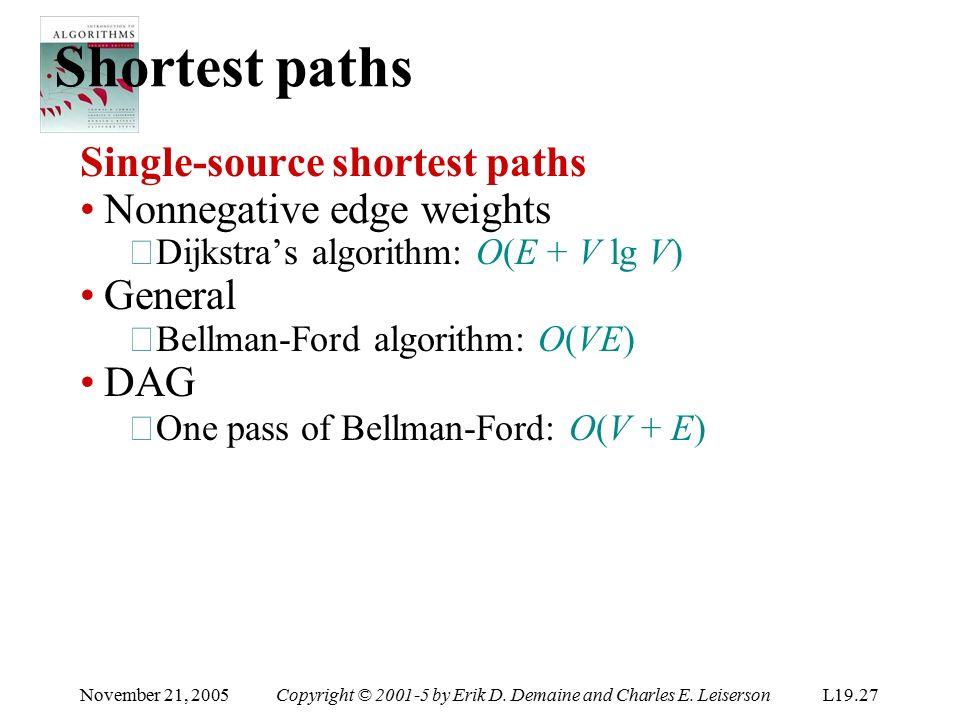 Algorithms lecture 14 shortest paths ii bellman-ford algorithm.