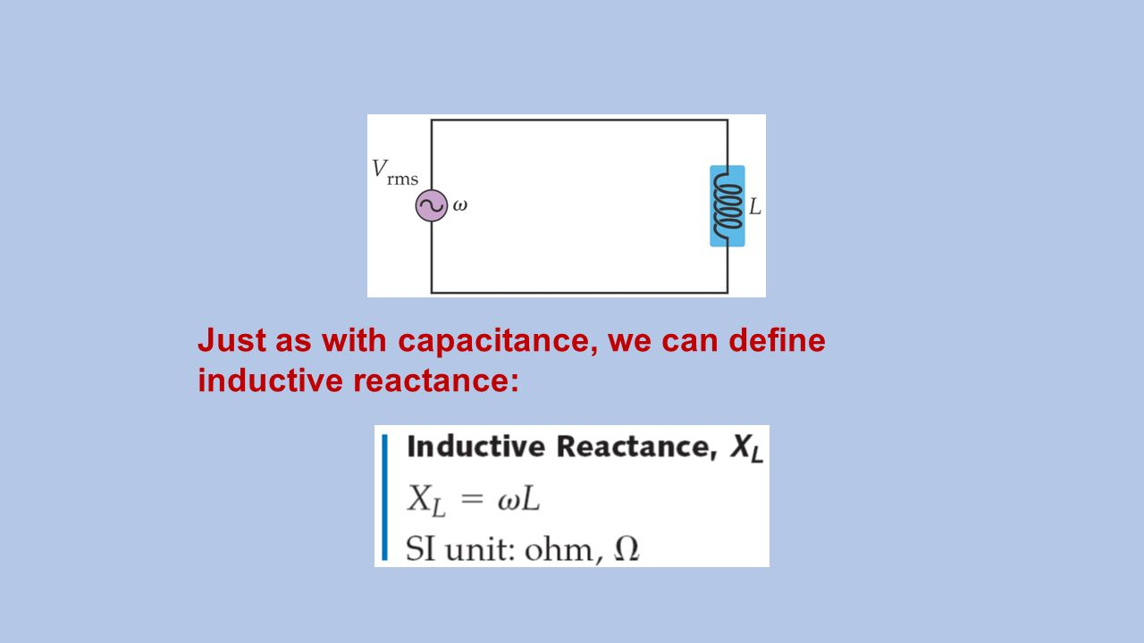 Inductive Reactance Electronics Electrical Circuit Concepts Ppt Video Online Download 30 Just As With Capacitance We Can Define
