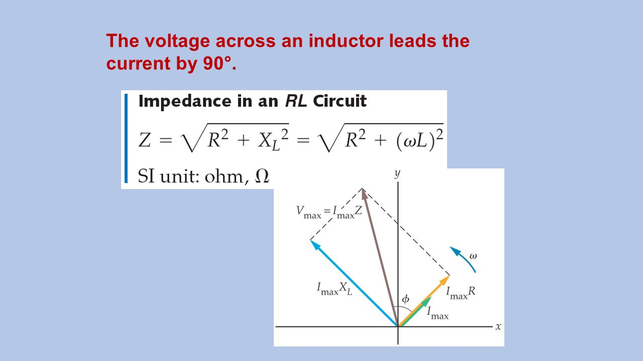 Electrical Circuit Concepts Ppt Video Online Download Inductors In Ac Dc Circuits Explained Electronic Projects 31 The Voltage Across An Inductor Leads Current By 90