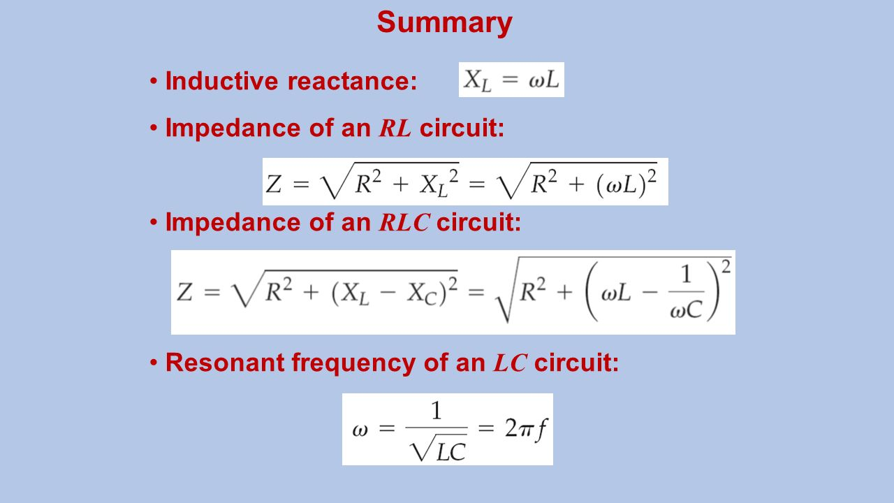 Electrical Circuit Concepts Ppt Video Online Download Inductive Reactance Electronics Summary Impedance Of An Rl