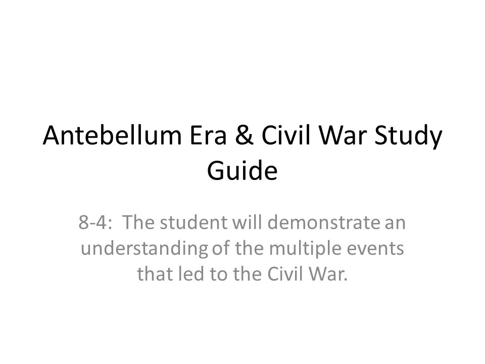 pre civil war events that lead to Top 10 events that led to the civil war 1848 : mexican war ended  with the end of the mexican war, america gave up western land this was a problem because the new land would be turned into states and slavery was a concern.
