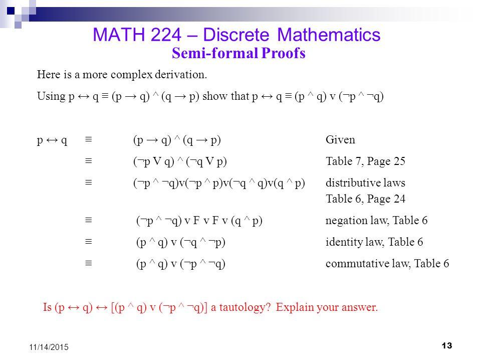 MATH 224 – Discrete Mathematic...
