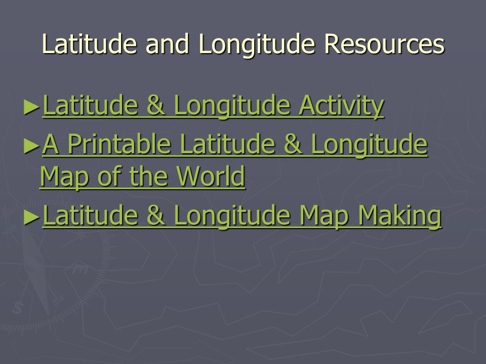 Latitude and Longitude Resources