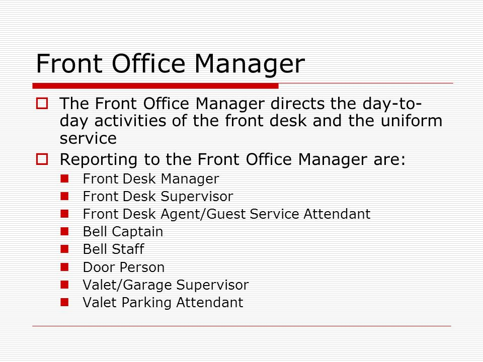 6 functional department of a hotel 14100484 hotel front office department 1 front  6 rooms  a few hotel may also include securitythese departments come under the control of the rooms.