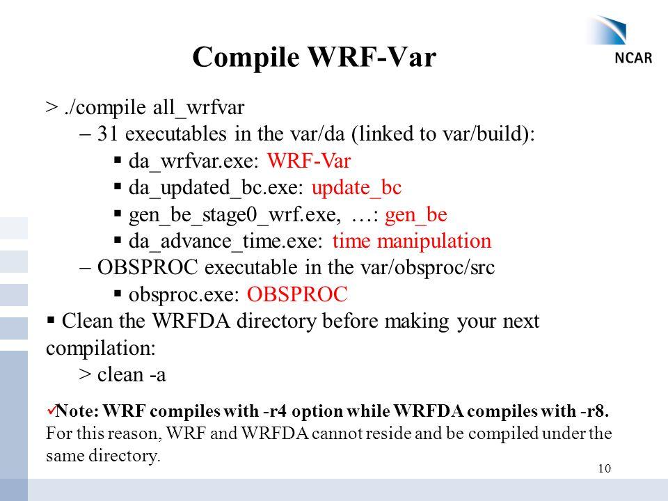 WRF-Var Setup, Run and Diagnostics - ppt download