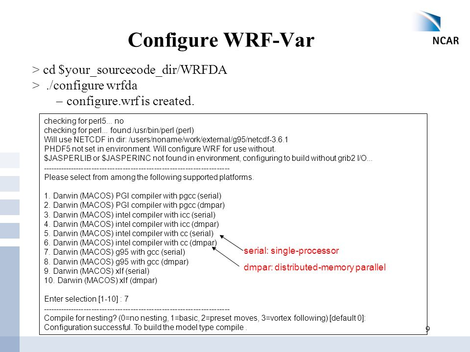 WRF-Var Setup, Run and Diagnostics - ppt download