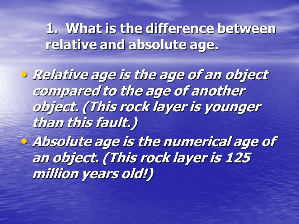 Whats the difference between relative and absolute age dating