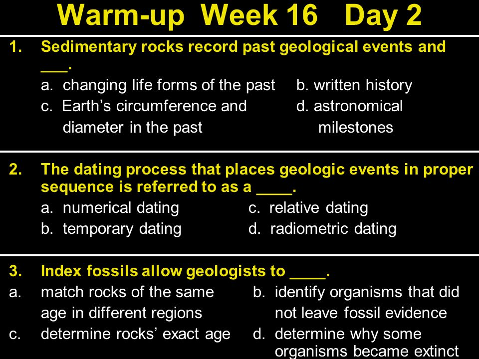 What is the process of geological dating