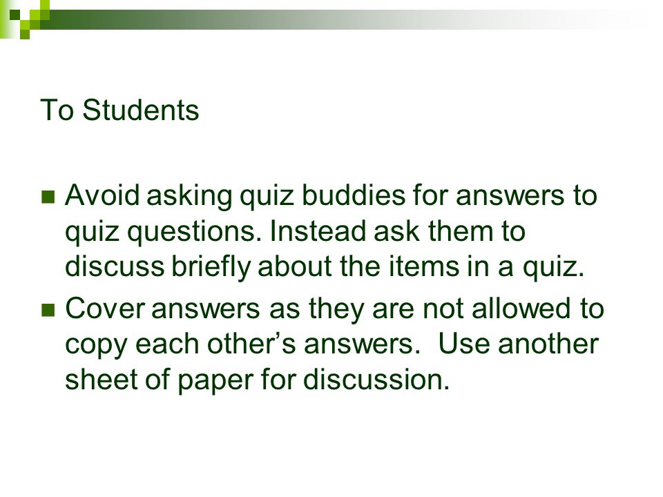 QUIZ BUDDY AS A PAIR ASSESSMENT AND ITS EFFECT ON STUDENT'S