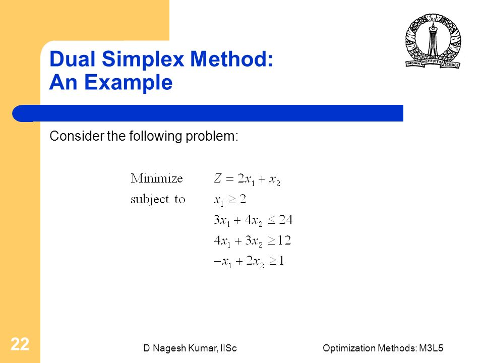 Linear Programming Revised Simplex Method, Duality of LP