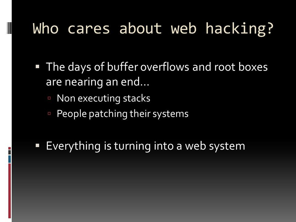 Crash Course in Web Hacking - ppt download