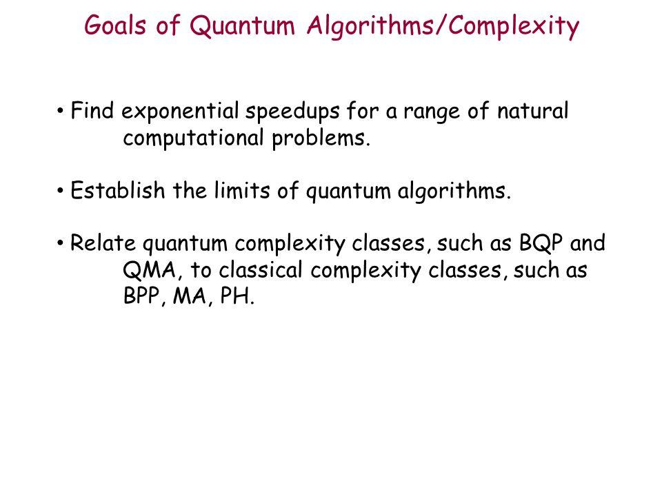 Quantum Algorithms & Complexity - ppt download