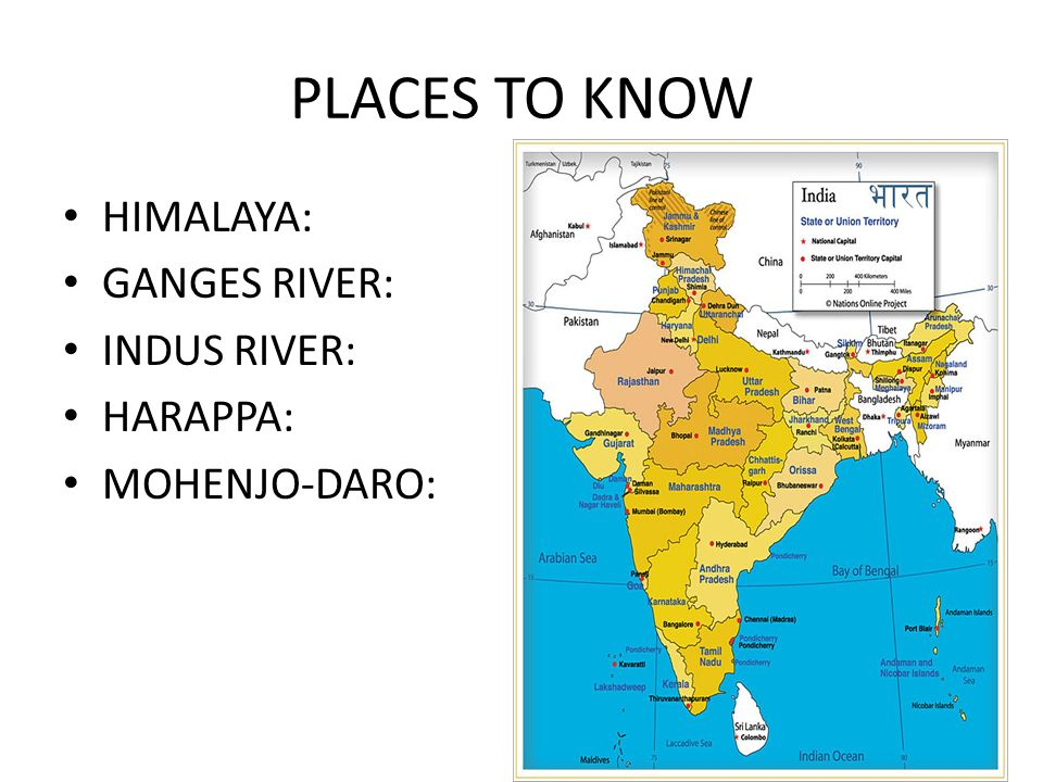 PLACES TO KNOW HIMALAYA: GANGES RIVER: INDUS RIVER: HARAPPA: