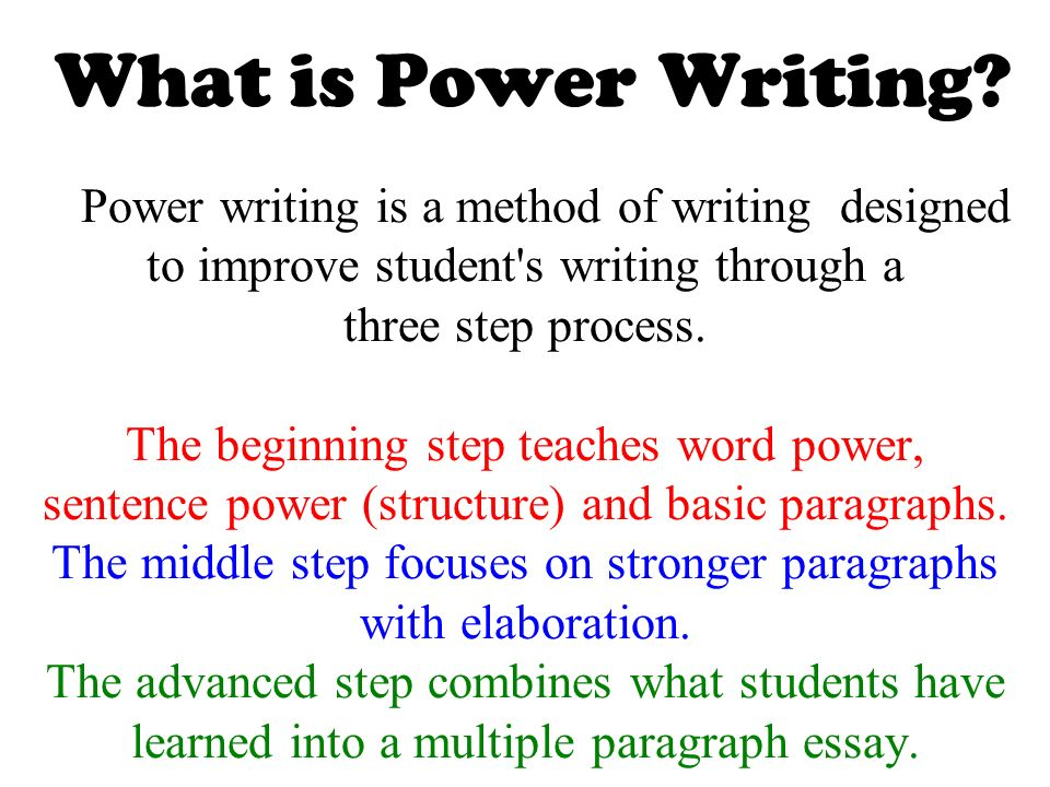 power writing what is it   u0026 how do we do it