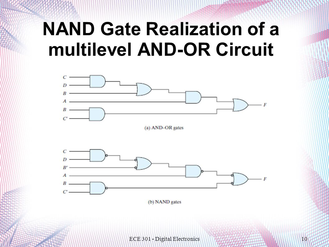 Nand And Nor Circuits Even Odd Logic Functions Gate Realization Of A Multilevel Or Circuit