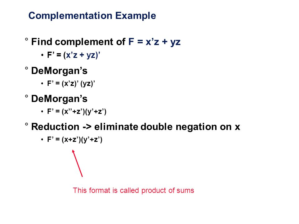 Complementation Example