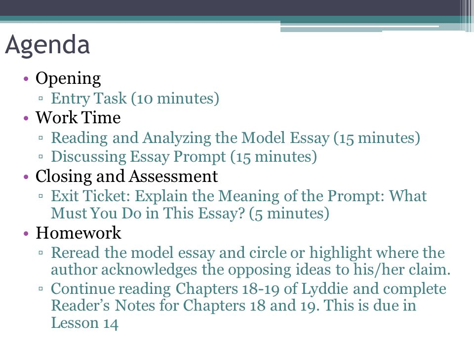 How To Write An Essay In High School  Agenda  Romeo And Juliet Essay Thesis also College Essay Paper Module A Unit  Lesson  Writing An Argumentative Essay  Healthcare Essay Topics