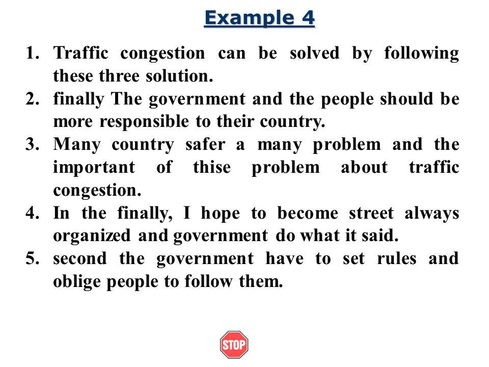 traffic problems essay