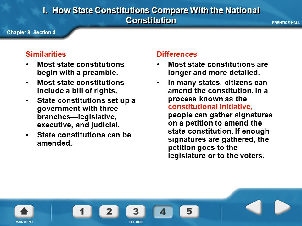 similarities between national and state government