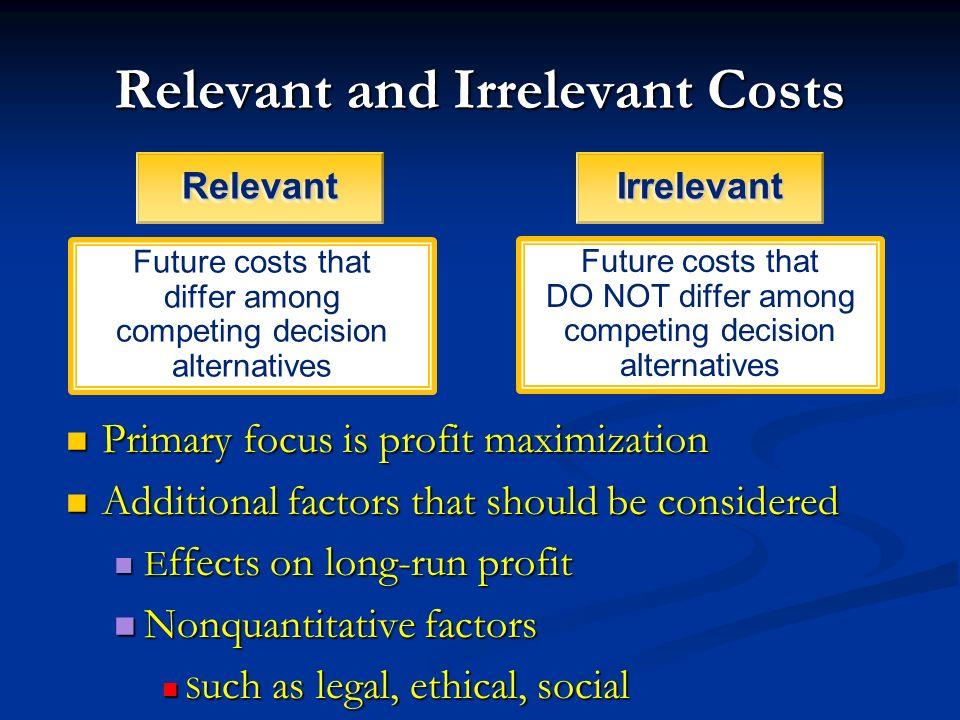 irrelevant costs