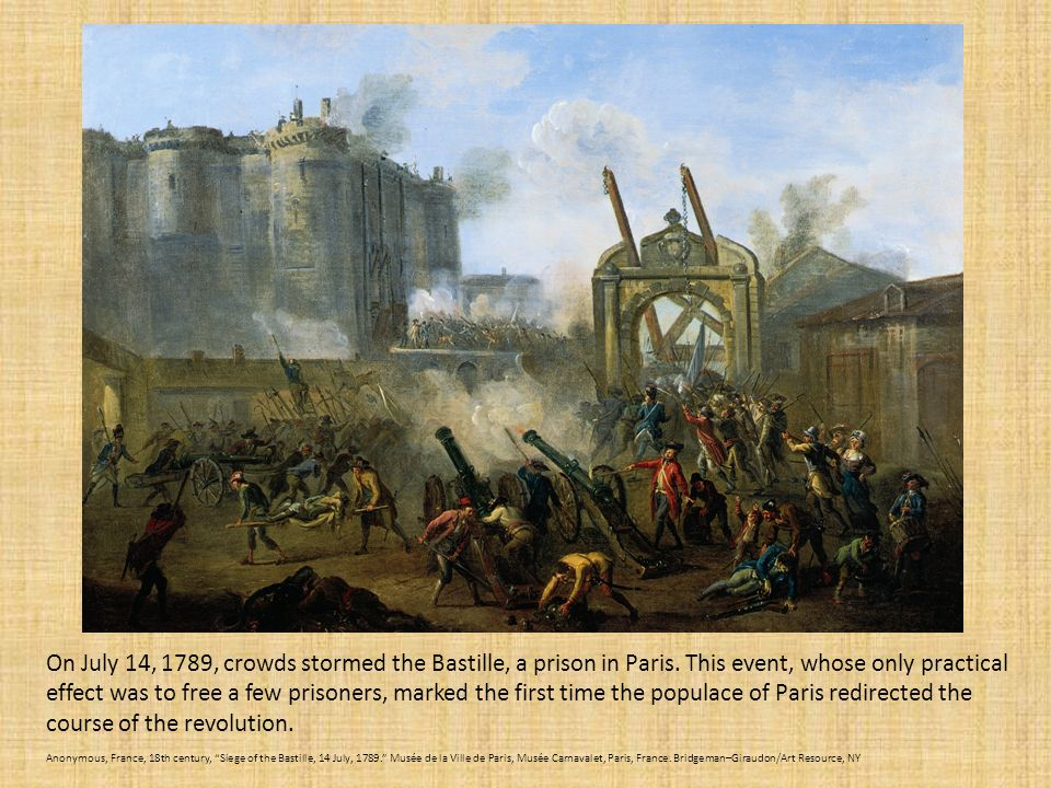 Image result for the bastille prison stormed during the french revolution