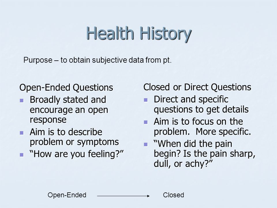 Intro to Health Assessment - ppt video online download