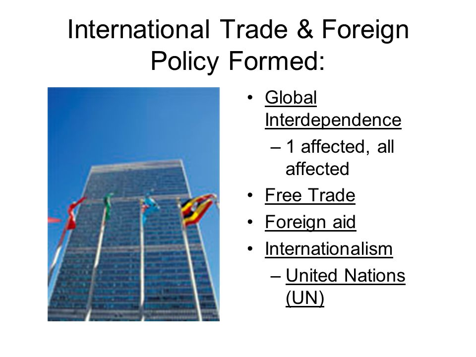 International Trade & Foreign Policy Formed: