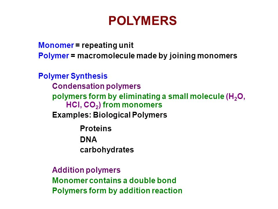 Modern Materials I Polymers And Biomaterials Ppt Video Online