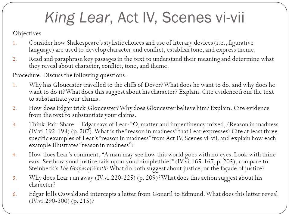 king lear important scenes