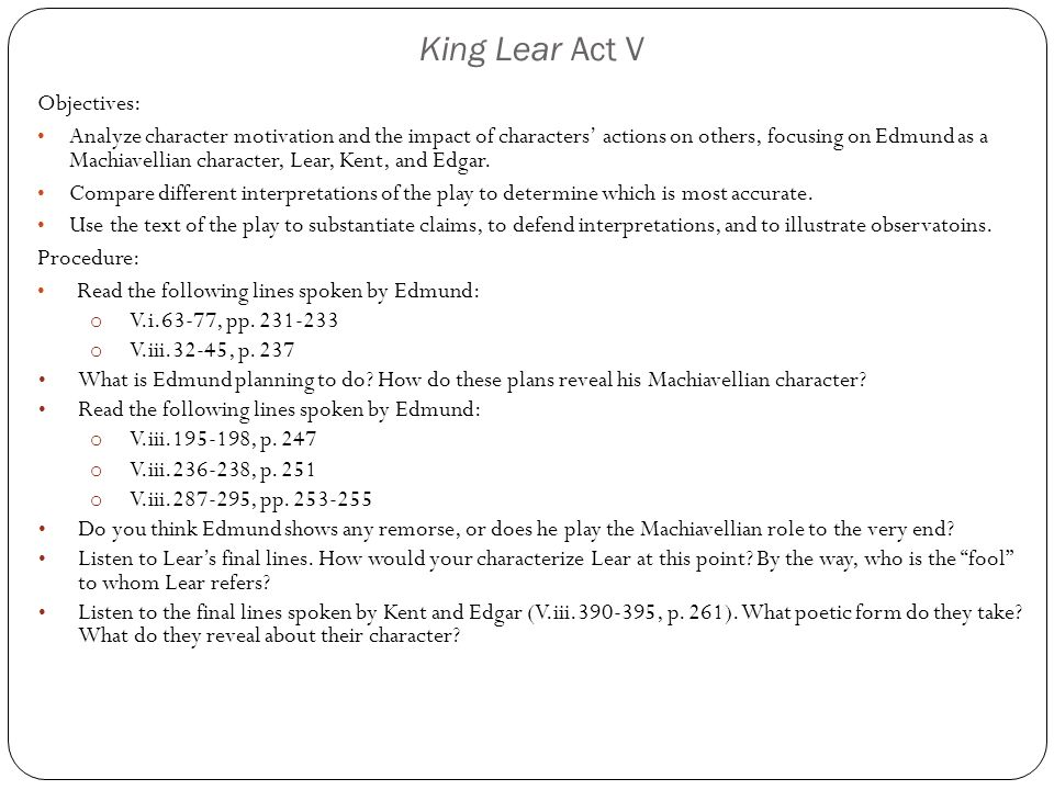 king lear edmund analysis