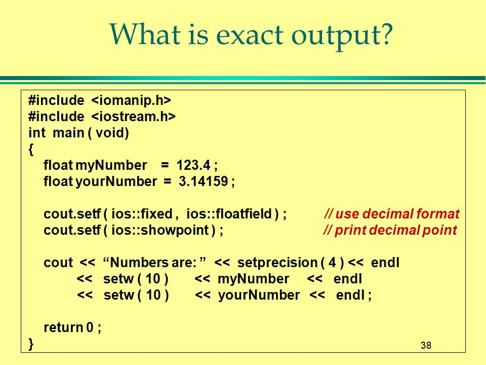 Chapter 3 Arithmetic Expressions, Function Calls, and Output