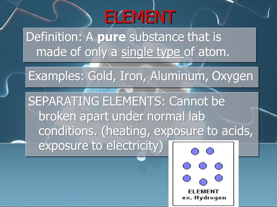 Element Examples