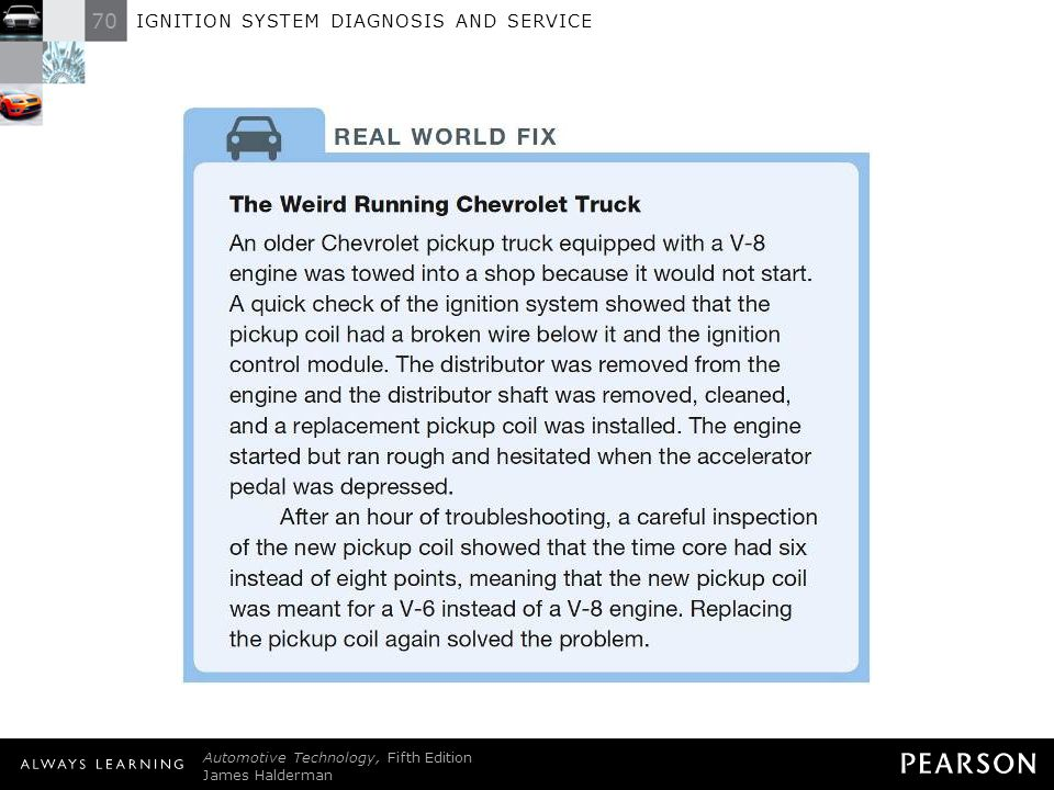 IGNITION SYSTEM DIAGNOSIS AND SERVICE - ppt download