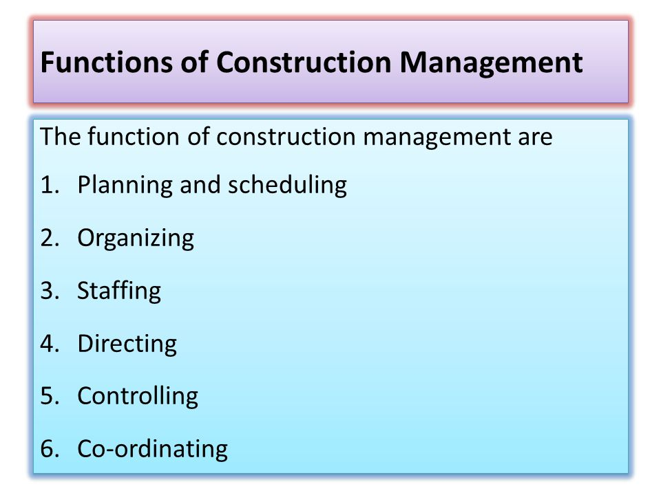 CONSTRUCTION MANAGEMENT AND ADMINISTRATION - ppt video
