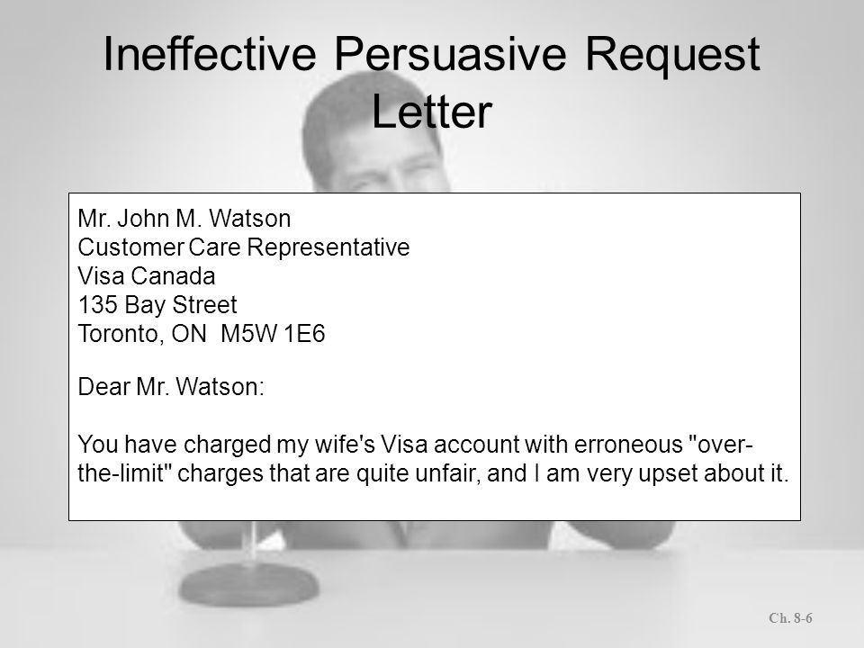 Letters and memos that persuade ppt download ineffective persuasive request letter spiritdancerdesigns Images