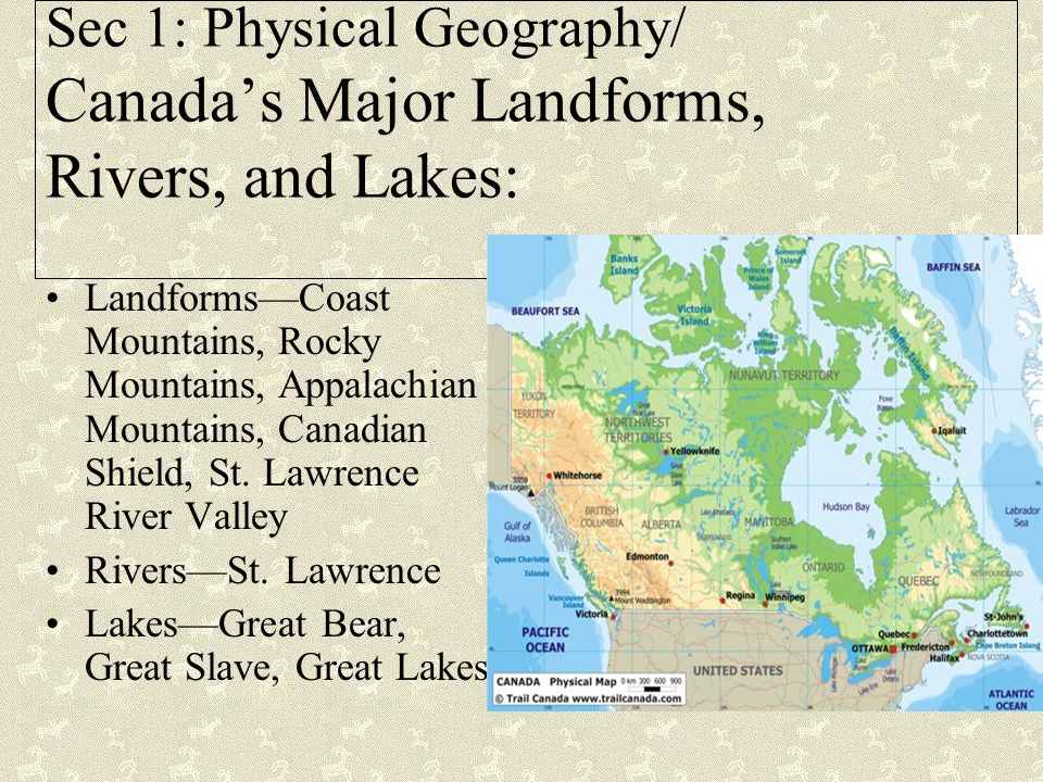 Physical Map Of Canada 6th Grade.6th Grade Social Studies Ppt Download