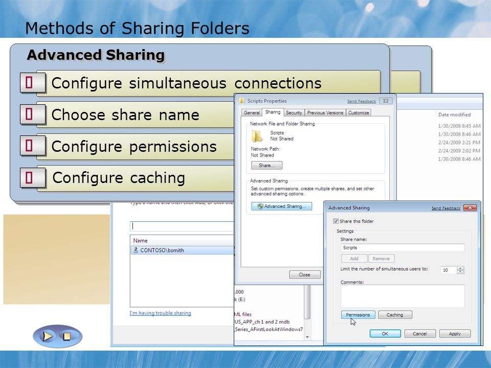 Module 3: Configuring File Access and Printers on Windows 7