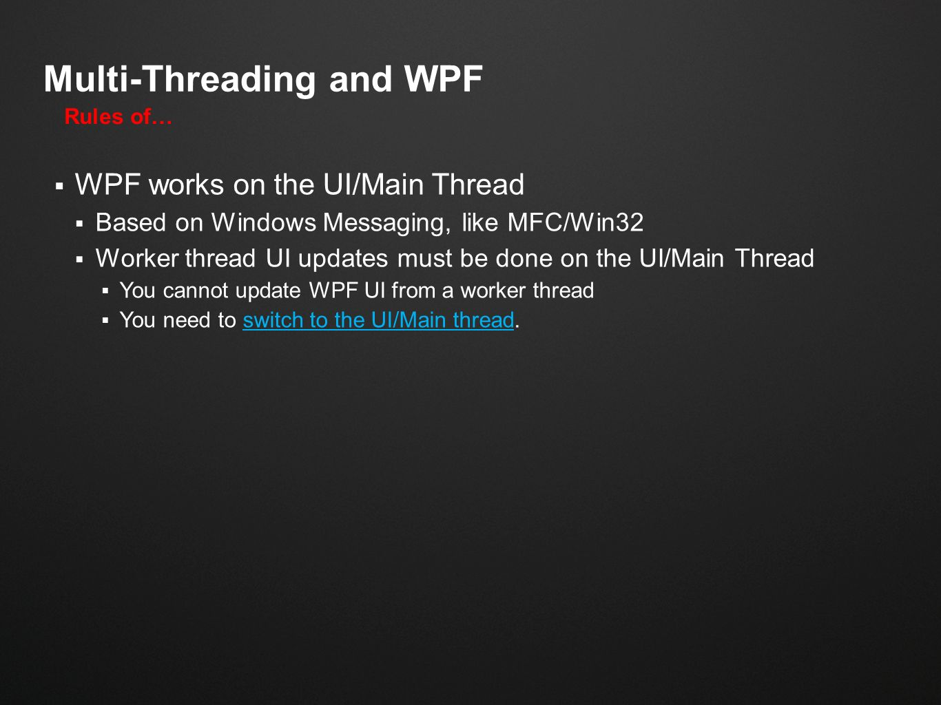 Multi-Threading WPF Inside of AutoCAD - ppt video online