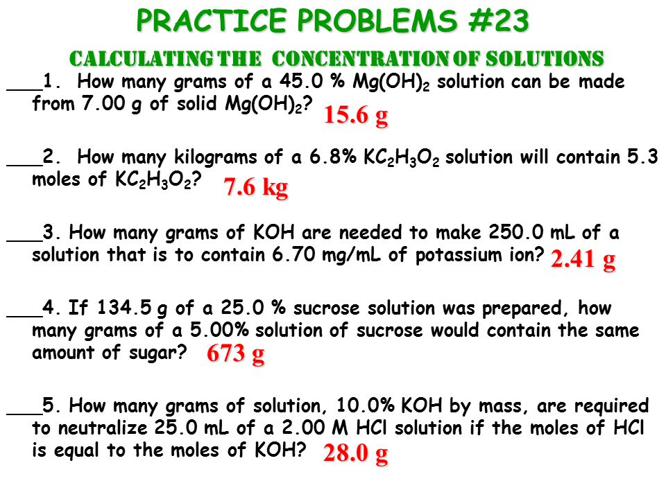 Calculating concentration of solutions ppt download.