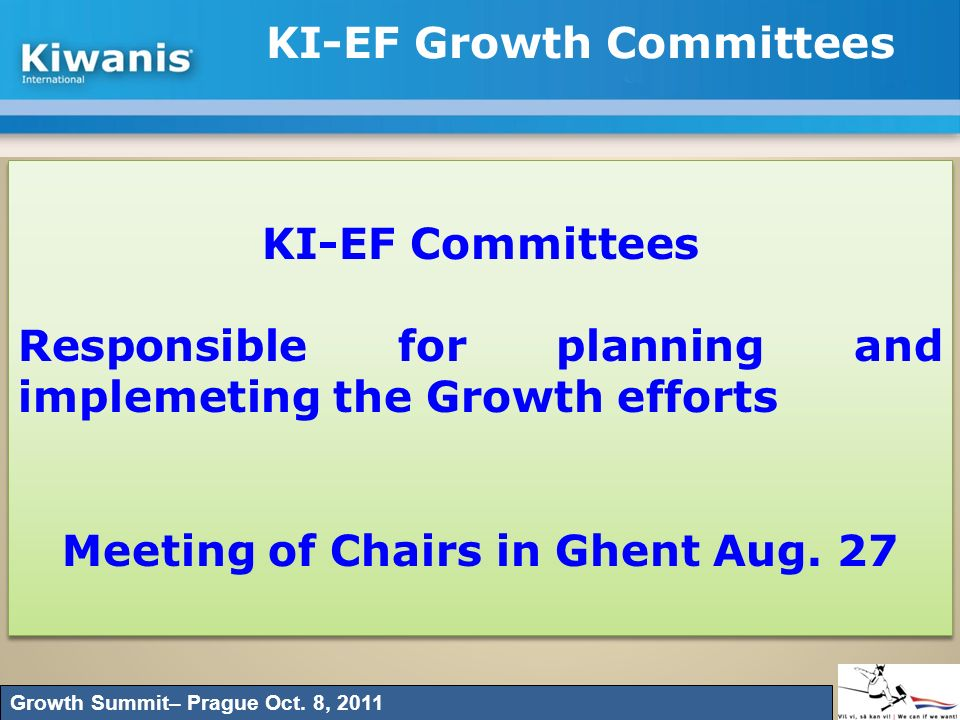 KI-EF Growth Committees
