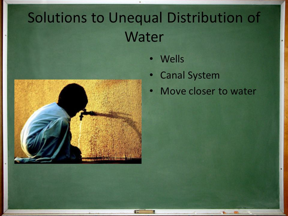 Solutions to Unequal Distribution of Water