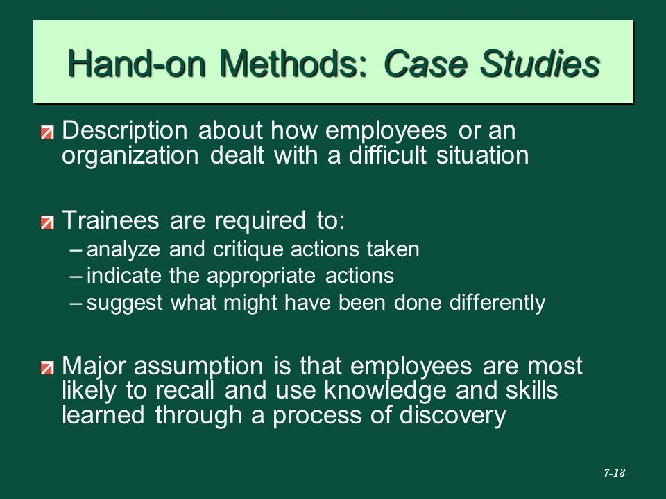 Hand-on Methods: Case Studies